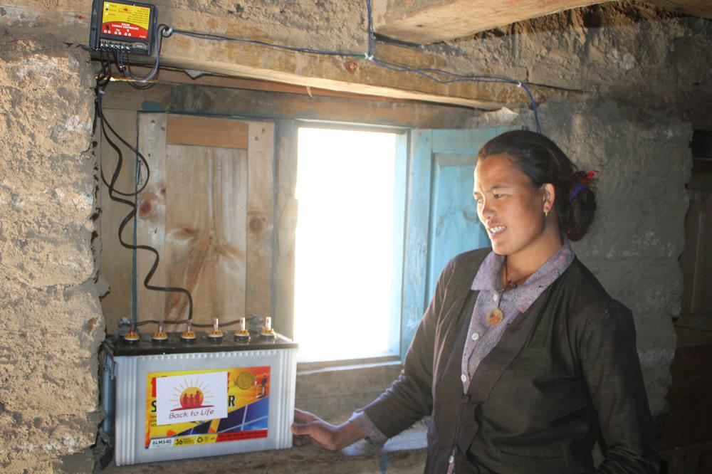 आगलागी बस्तीमा नि:शुल्क सौर्य उर्जा